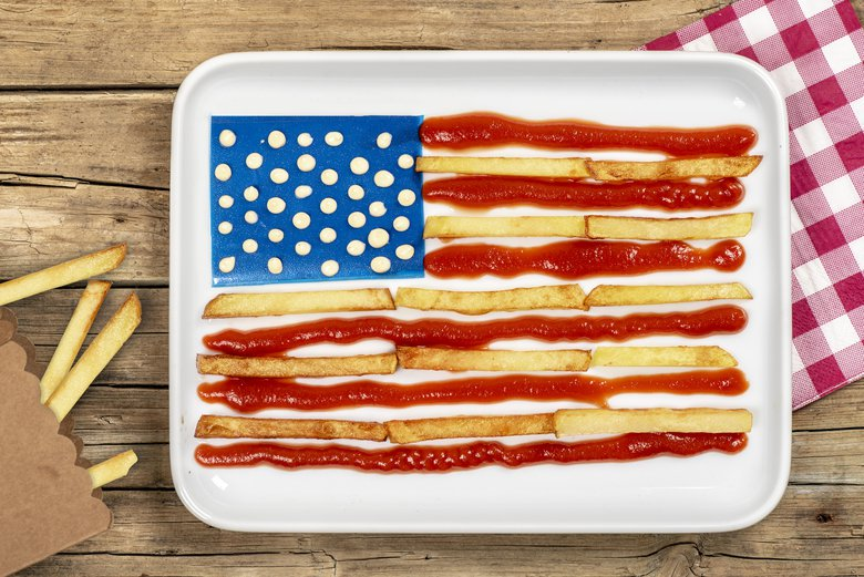 What's more American than French fry and ketchup stars and stripes on the Fourth of July