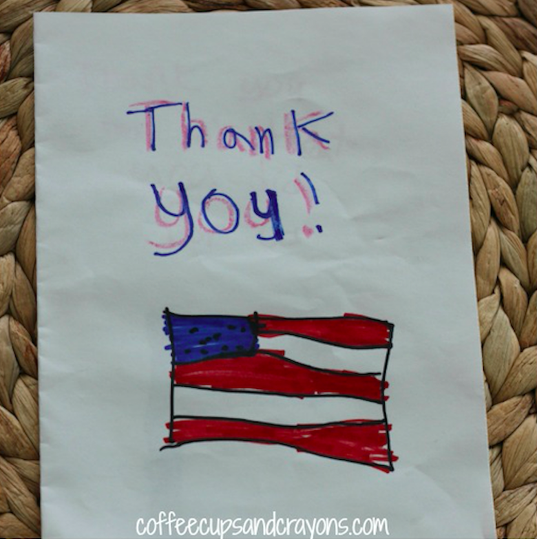 Writing a thank-you note to someone in the military is a great way to celebrate the Fourth of July