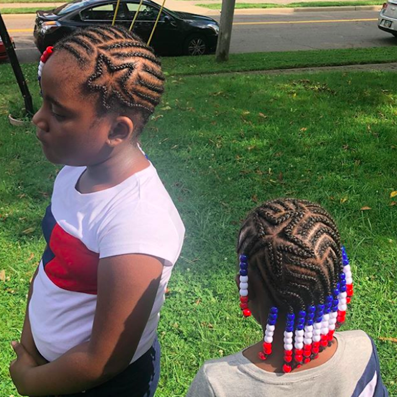 This Fourth of July, let the kids try out a cool patriotic new hairstyle