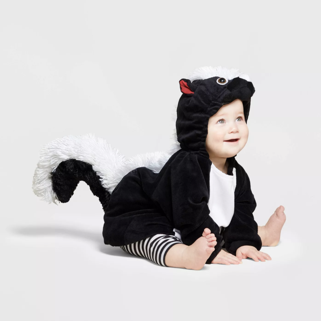 This skunk costume has to be one the cutest baby costumes of the year.