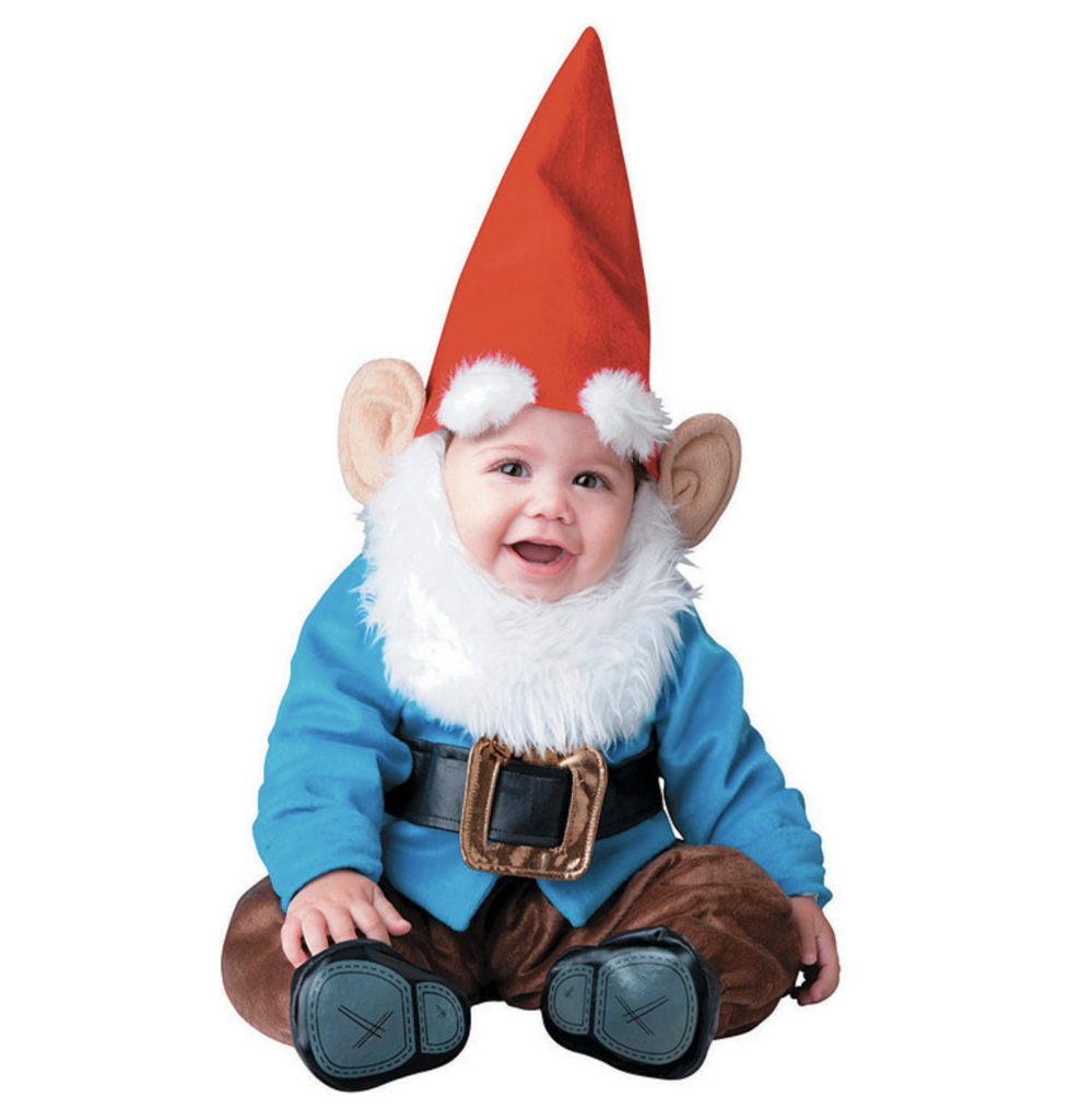 This garden gnome costume has to be one the cutest baby costumes of the year.