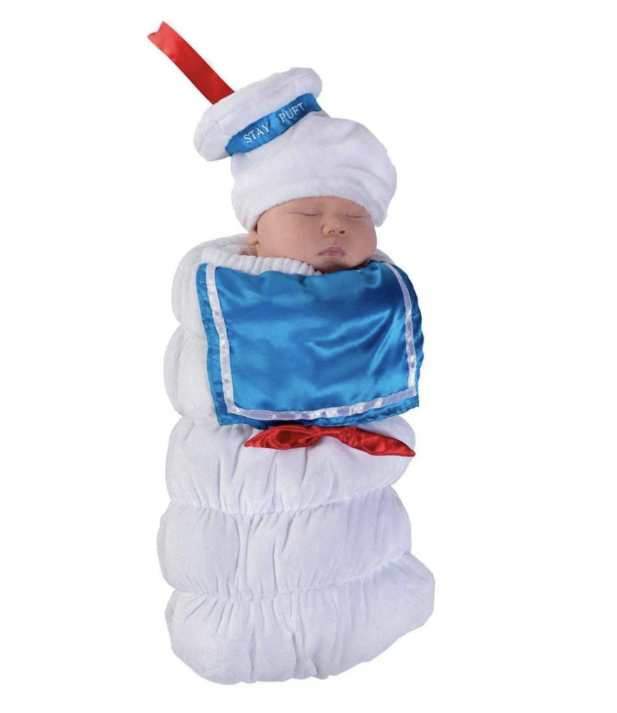 This Stay-Puft Marshmallow costume has to be one the cutest baby costumes of the year.