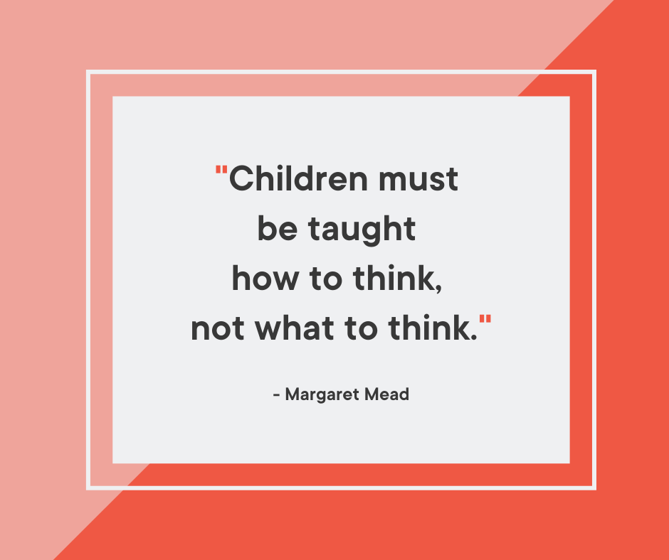 Inspiring Margaret Mead back to school quote about education and learning