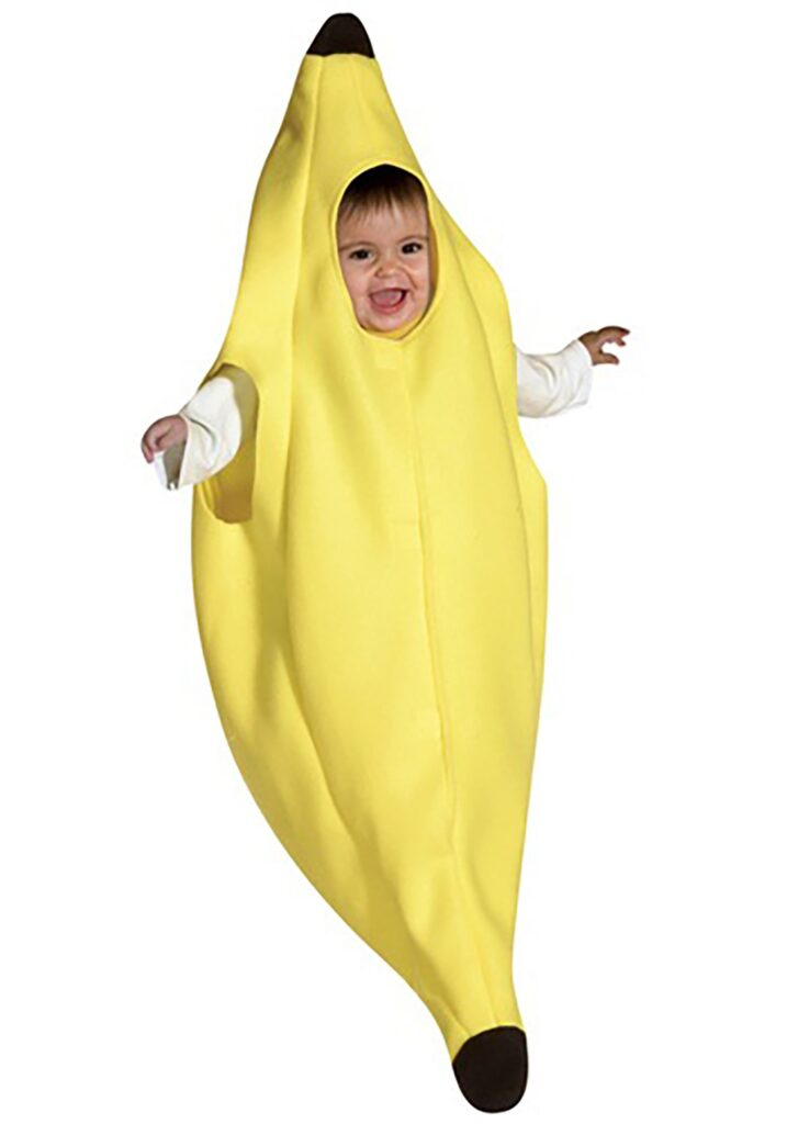 This banana bunting has to be one the cutest baby Halloween costumes of the year.