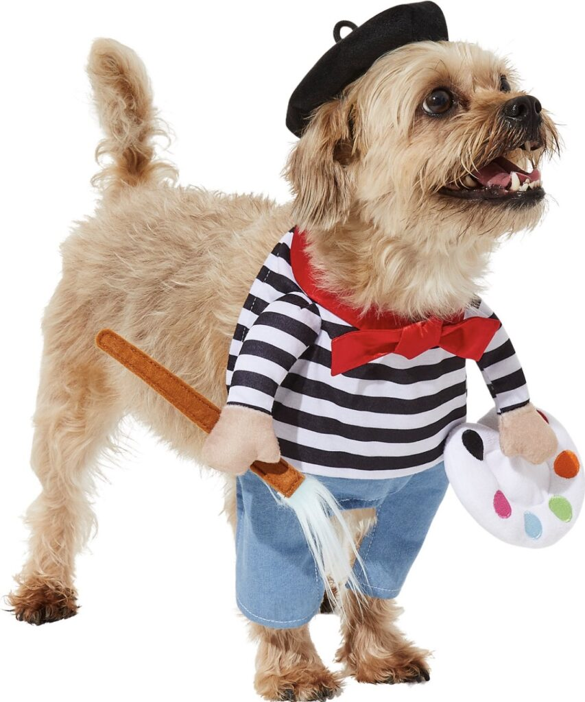 This French artist getup is the cutest dog or cat costume