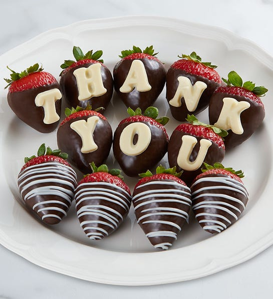 Say thank you with chocolate covered strawberries