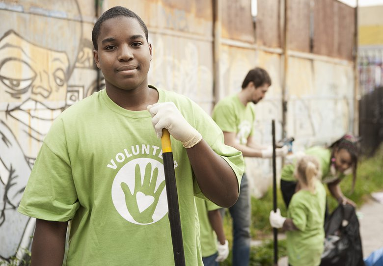 Volunteering in your community is a wonderful service oriented after-school activity for kids