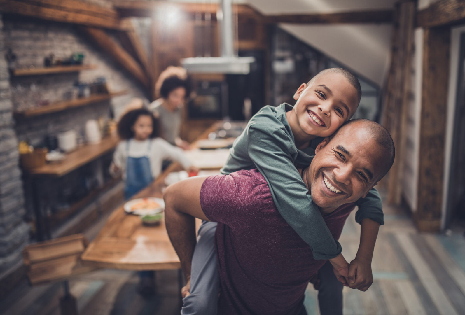 Young Black father helping son get back to normal after COVID