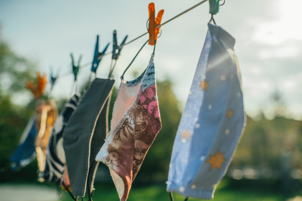 Washing cloth masks after each use is a good cleaning practice during the COVID pandemic