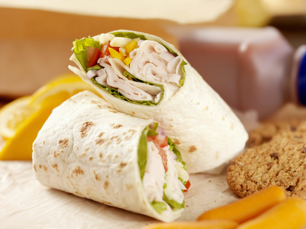 A deli meat wrap is an easy breakfast kids can make themselves