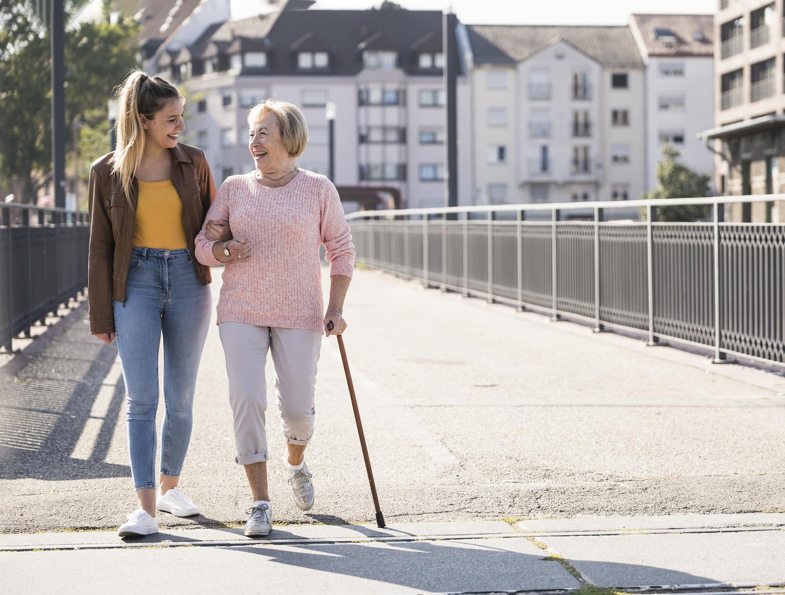 companion caregiver and senior