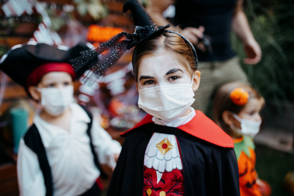 Halloween safety 2021 includes wearing masks
