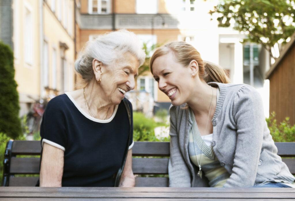 caregiver working with senior
