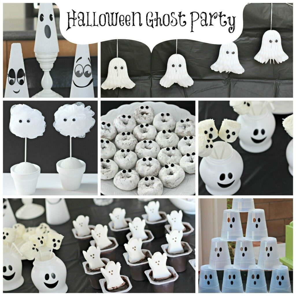 There are so many cool ideas for a ghost-themed Halloween party.